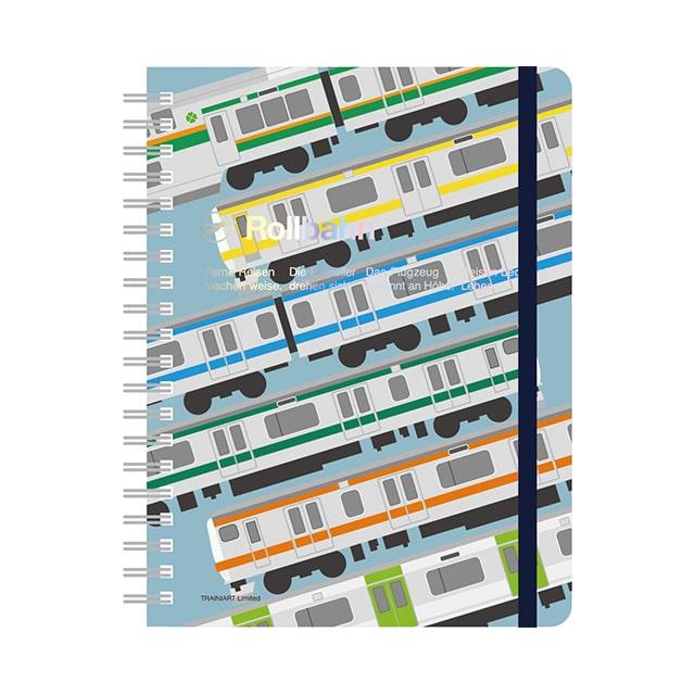 ロルバーンポケット付きメモ 通勤電車 Lサイズ