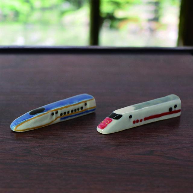 こうじんや E7系・E926形益子焼箸置きセット