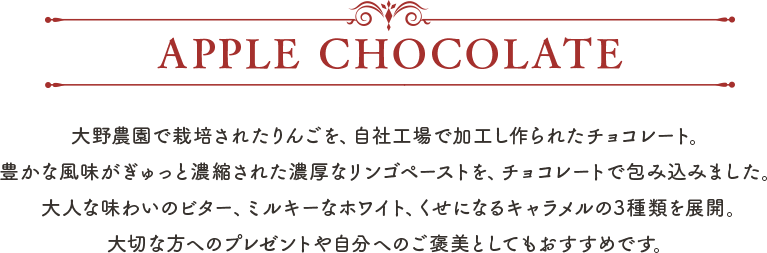 APPLE CHOCOLATE
