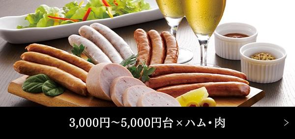 3,000円〜5,000円台 × ハム・肉