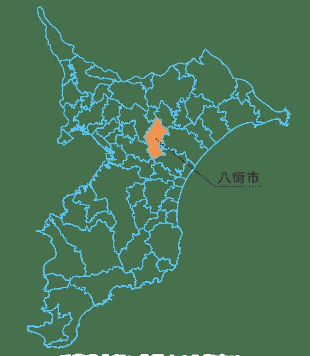 千葉県八街市の地図