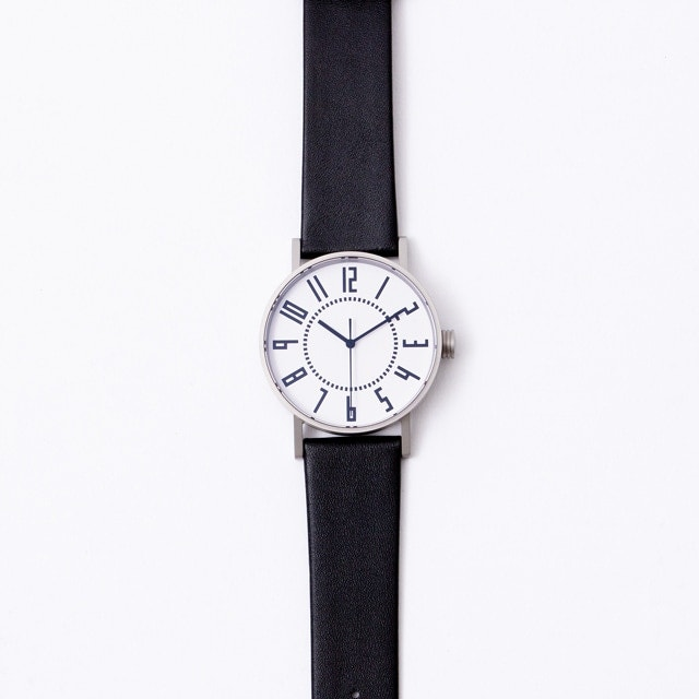 eki watch 37mm革バンド WH/BK